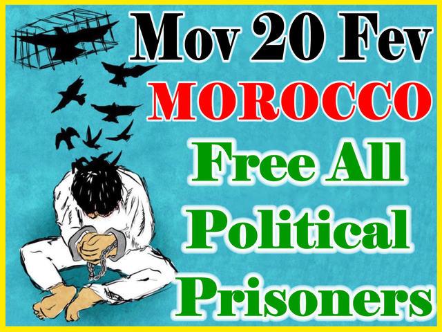 Marokkanen wijzen voorstellen koning af tijdens protestactie