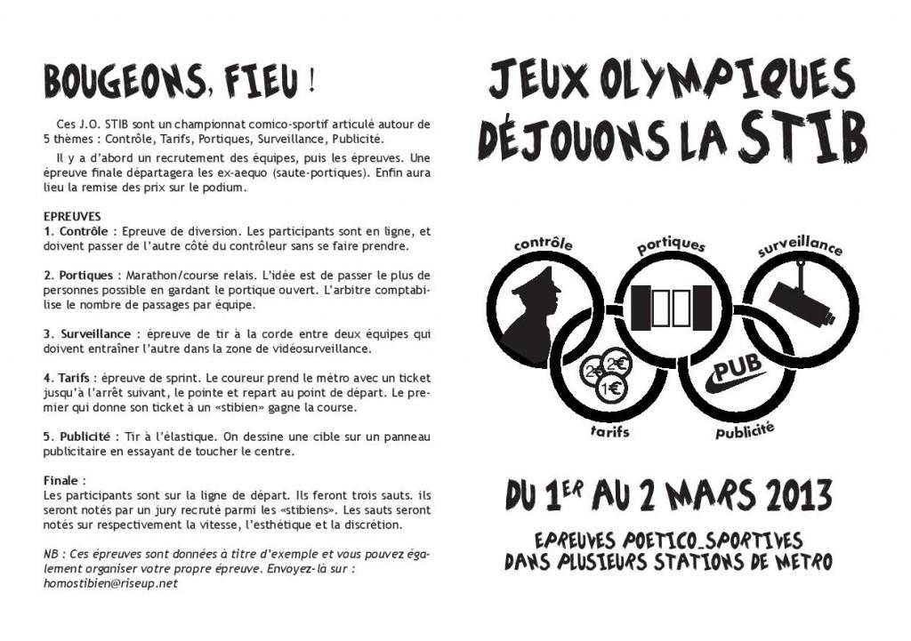 Les olympiades stibiennes ou les jeux de la désobéissanc