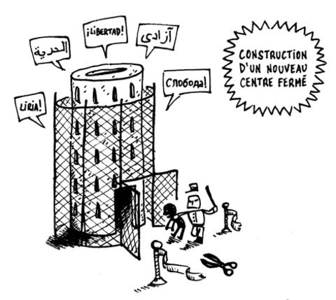 Centre fermé « Caricole » : les murs changent, l'indignité reste