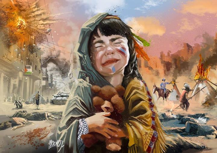 De Palestine à Standing Rock nous sommes unis.