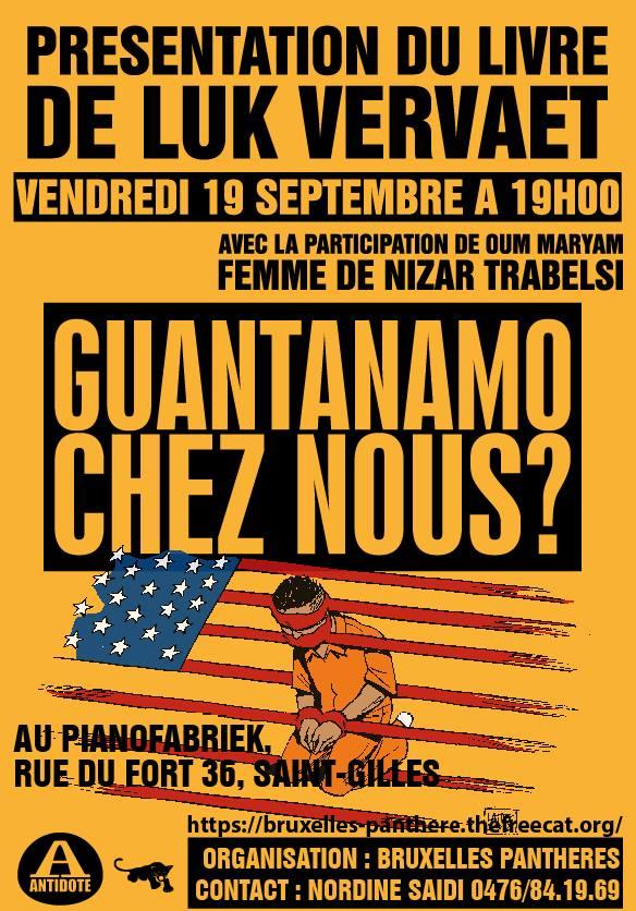 Rencontre autour du livre de Luk Vervaet «Guantanamo chez nous ? »