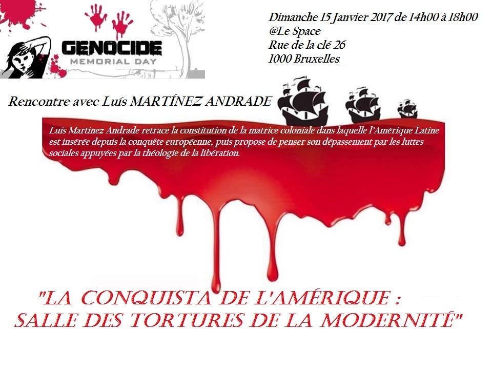 La Conquista de l'Amérique: salle des tortures de la modernité par Luis Martinez Andrade