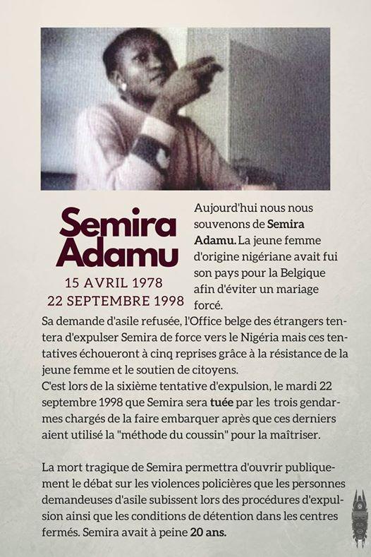 Semira Adamu: on n'oublie pas