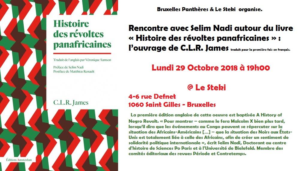 Vidéo de la rencontre autour de Histoire des révoltes panafricaines de C.L.R. James avec Selim Nadi
