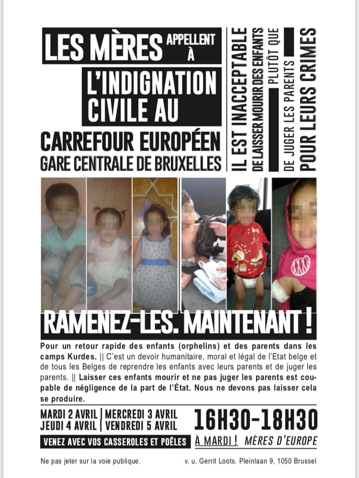 Les 'Mères d'Europe' demandent au gouvernement fédéral de rapatrier immédiatement les enfants belges des camps kurdes