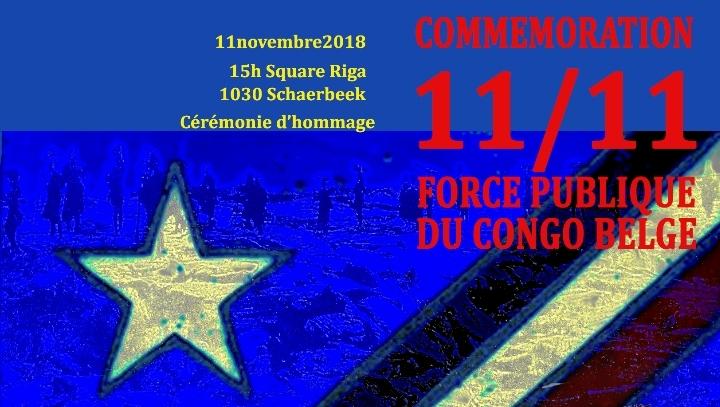 Commémoration des anciens combattants de la Force Publique du Congo.
